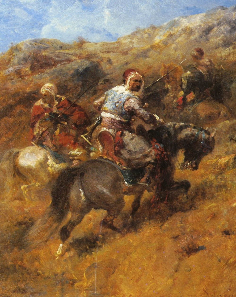 Arab Warriors On A Hillside