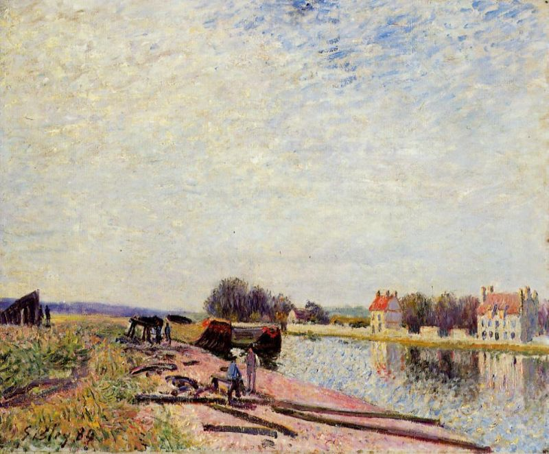 Barges on the Loing, Saint-Mammes