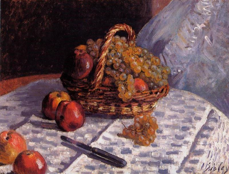 Still Life - Apples and Grapes