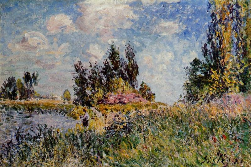Landscape - The Banks of the Loing at Saint-Mammes