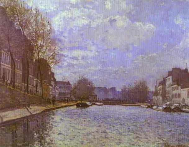 The Saint-Martin Canal in Paris