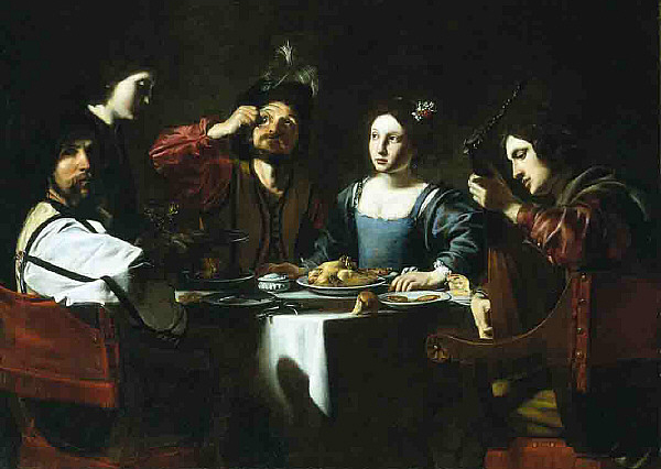Banquet Scene with a Lute Player