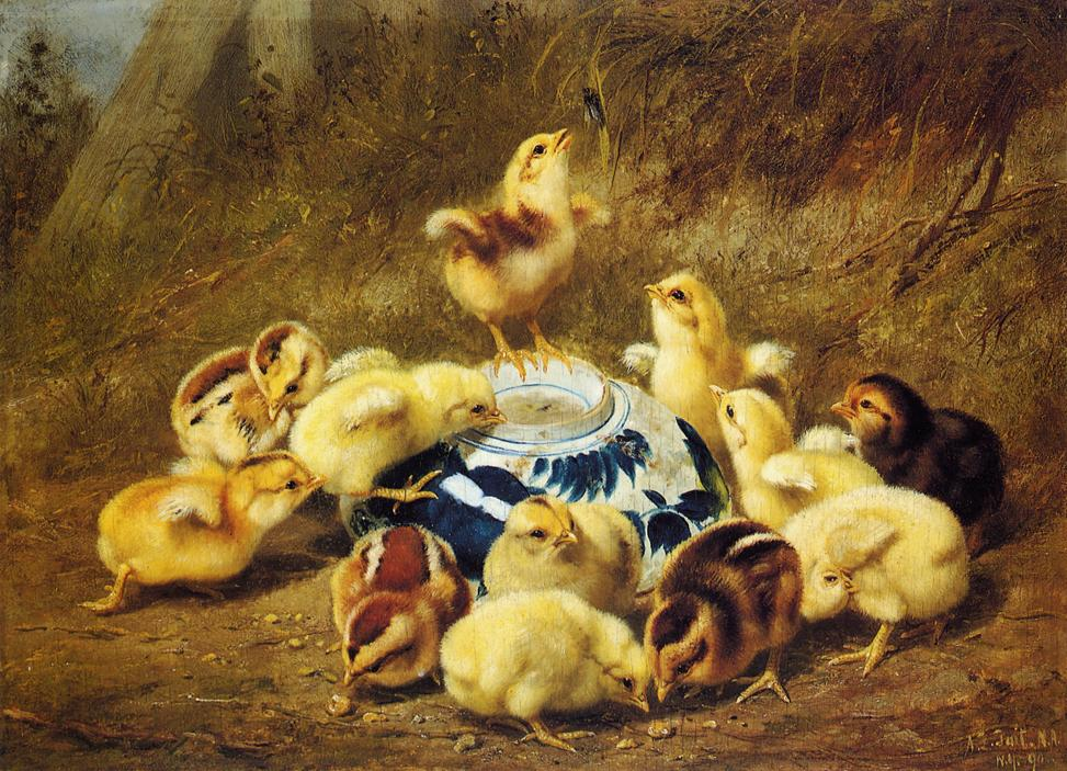 Chicks and Delft Bowl