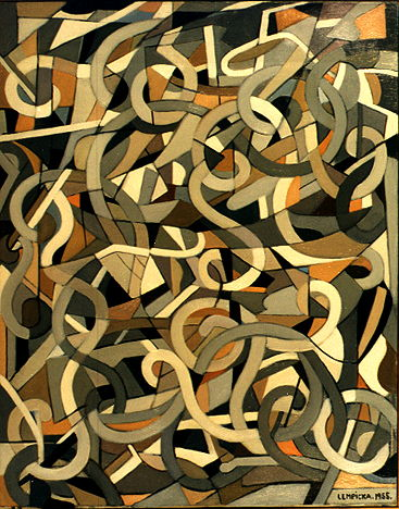 Abstract Composition with Swirls