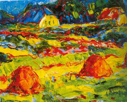 Autumn Landscape In Oldenburg 1907