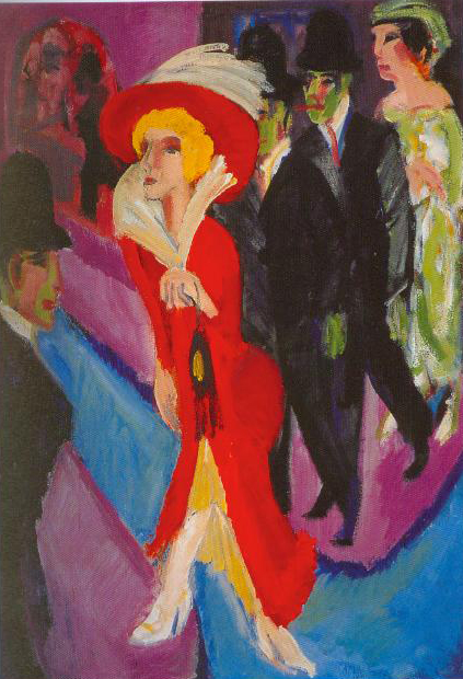 Berlin Street Scene With Red Streetwalker 1914 1925