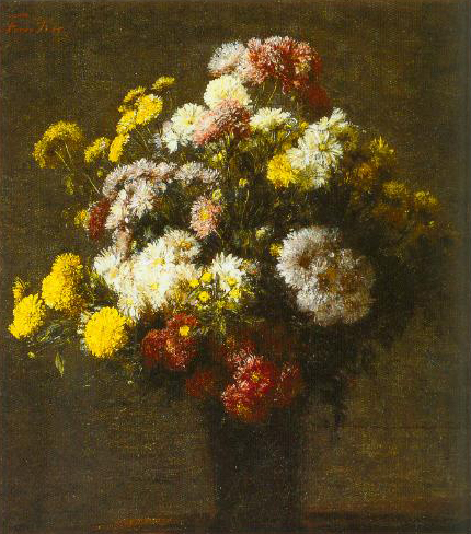 Crysanthemums In A Vase 1875