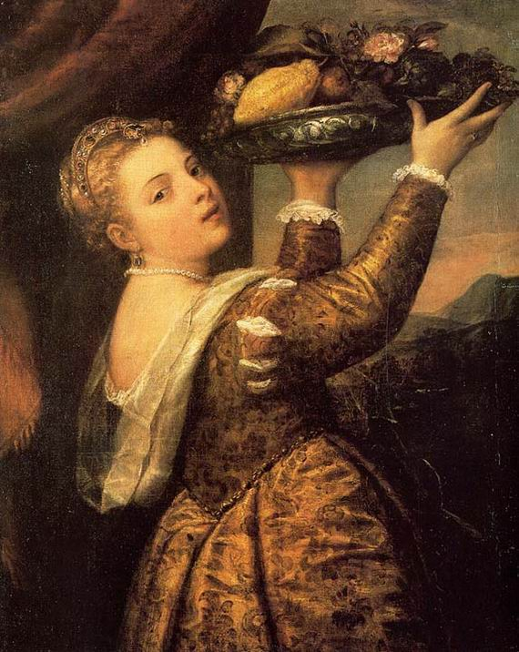 Girl with a Basket of Fruits
