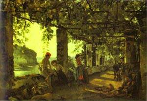 A Porch Twined With Vines 1828