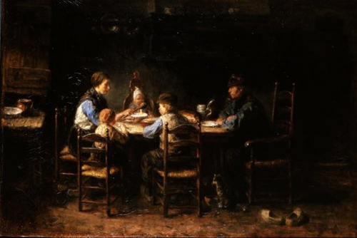 A Peasant Family at the Table 1882