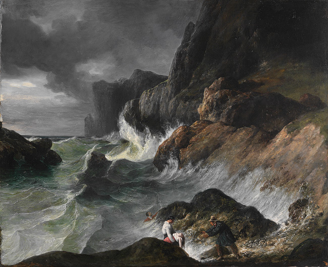Stormy Coast Scene after a Shipwreck