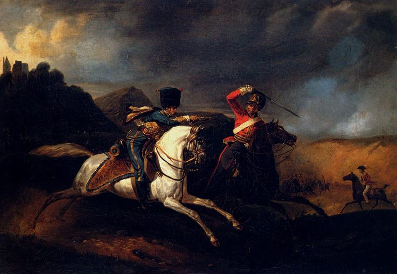 Two Soldiers on Horseback