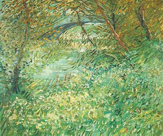 Banks of the Seine with Pont de Clichy in the Spring