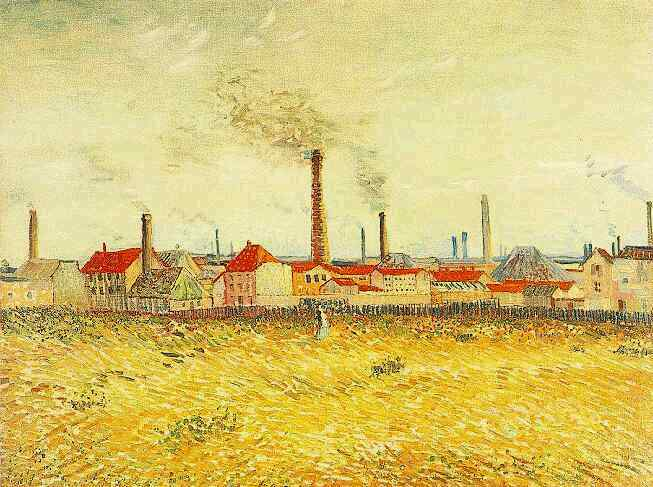 Factories at Asnieres Seen from the Quai de Clichy
