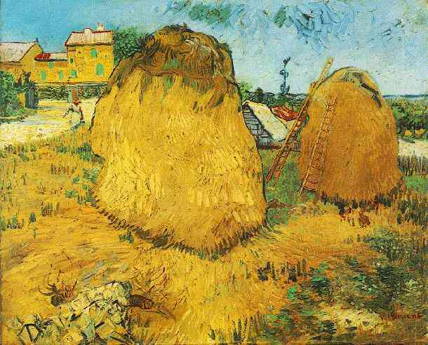 Haystacks in Provence Yellow