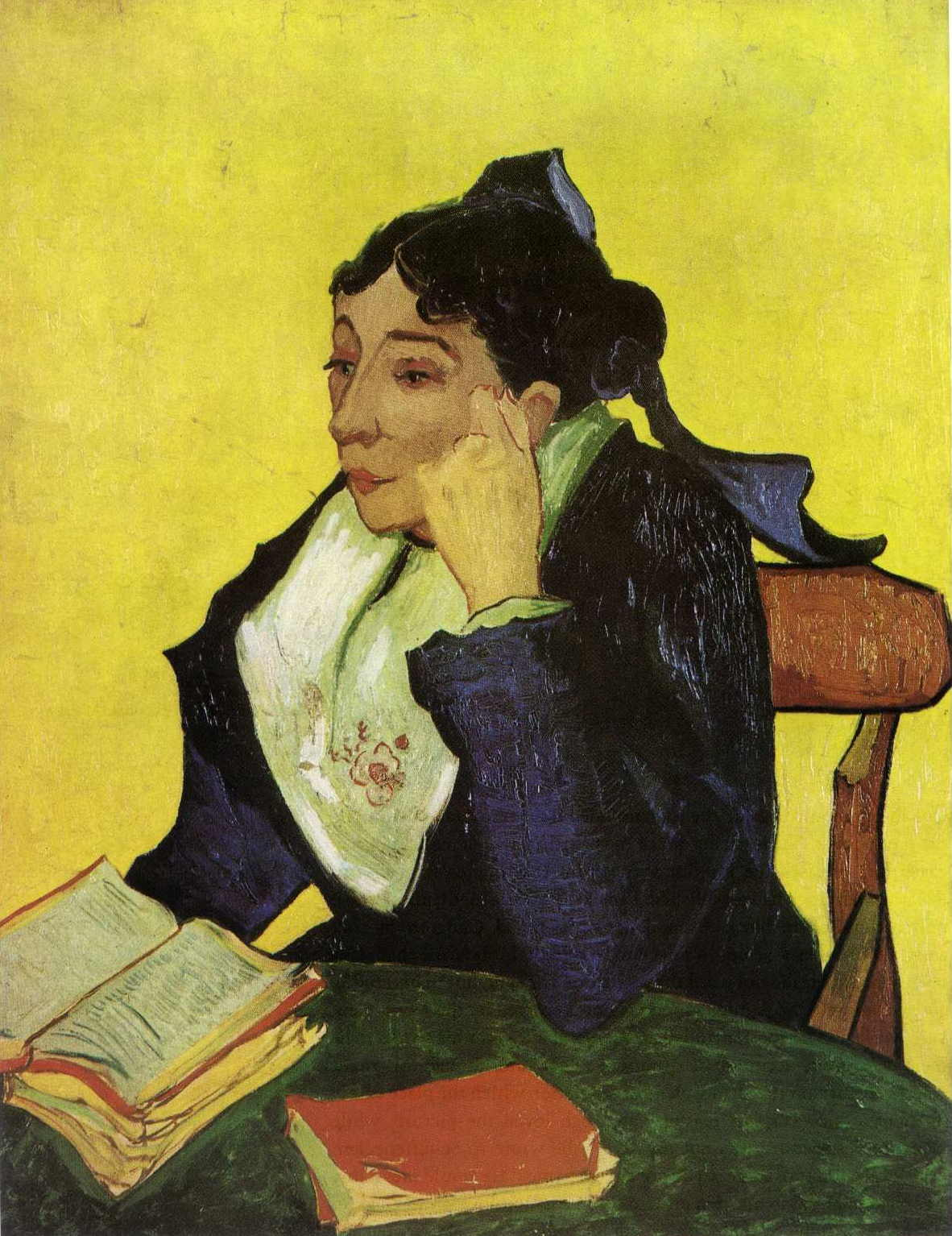LArlesienne Madame Ginoux with Books