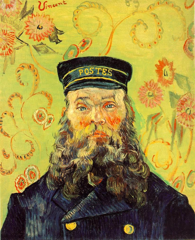 van gogh portrait of the postman joseph roulin oil painting reproduction. Black Bedroom Furniture Sets. Home Design Ideas