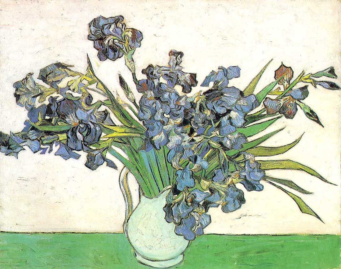 Still Life Vase with Irises