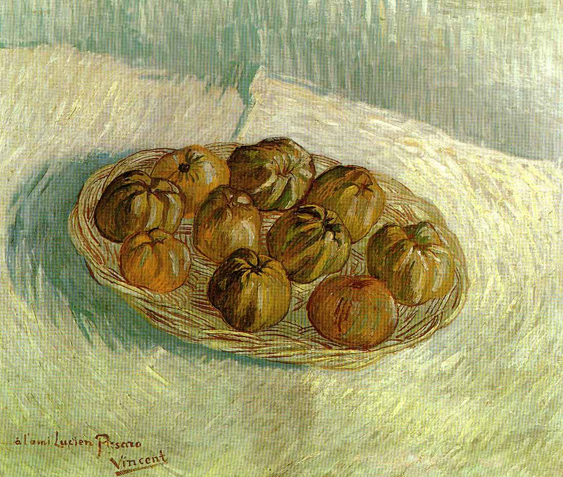 Still Life with Basket of Apples Lucien Pissarro