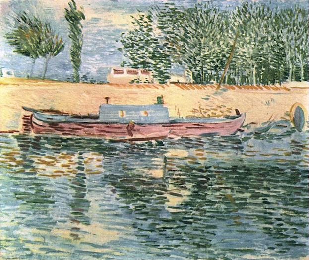 The Banks of the Seine with Boats