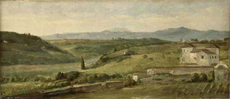 Panoramic Landscape with a Farmhouse