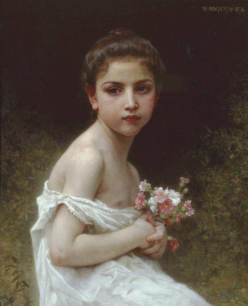 Little Girl with a Bouquet