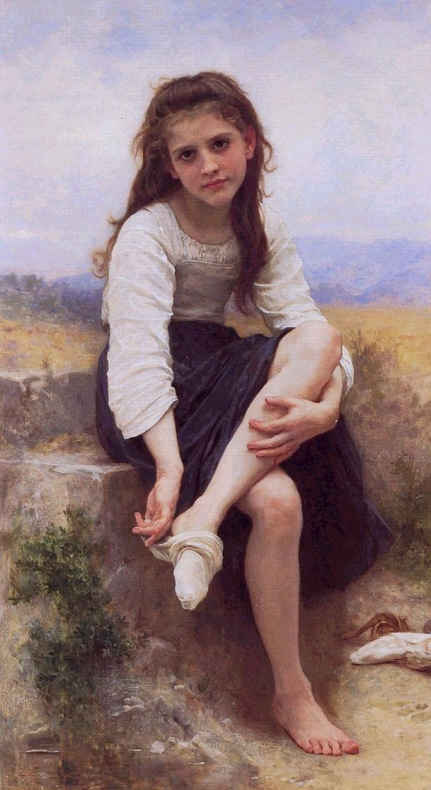 Young Girl Removing Her Socks