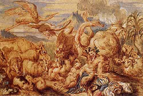 A Satyr Family among Animals about 1650