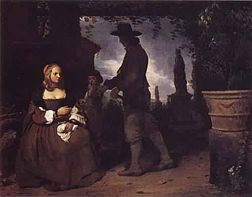 A Young Couple and a Boy in a Garden about 1650