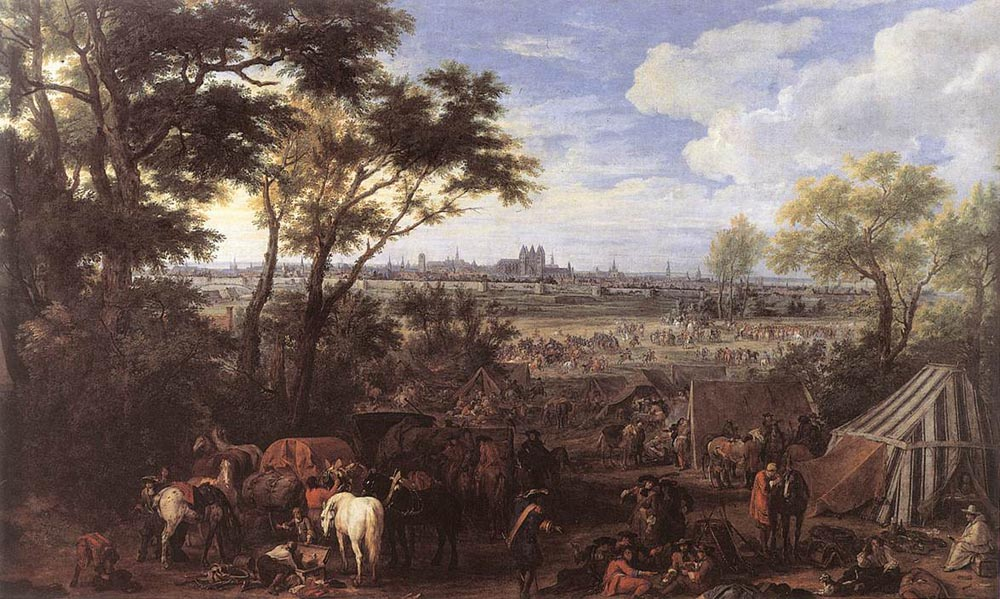 The Army of Louis XIV in front of Tournai in 1667