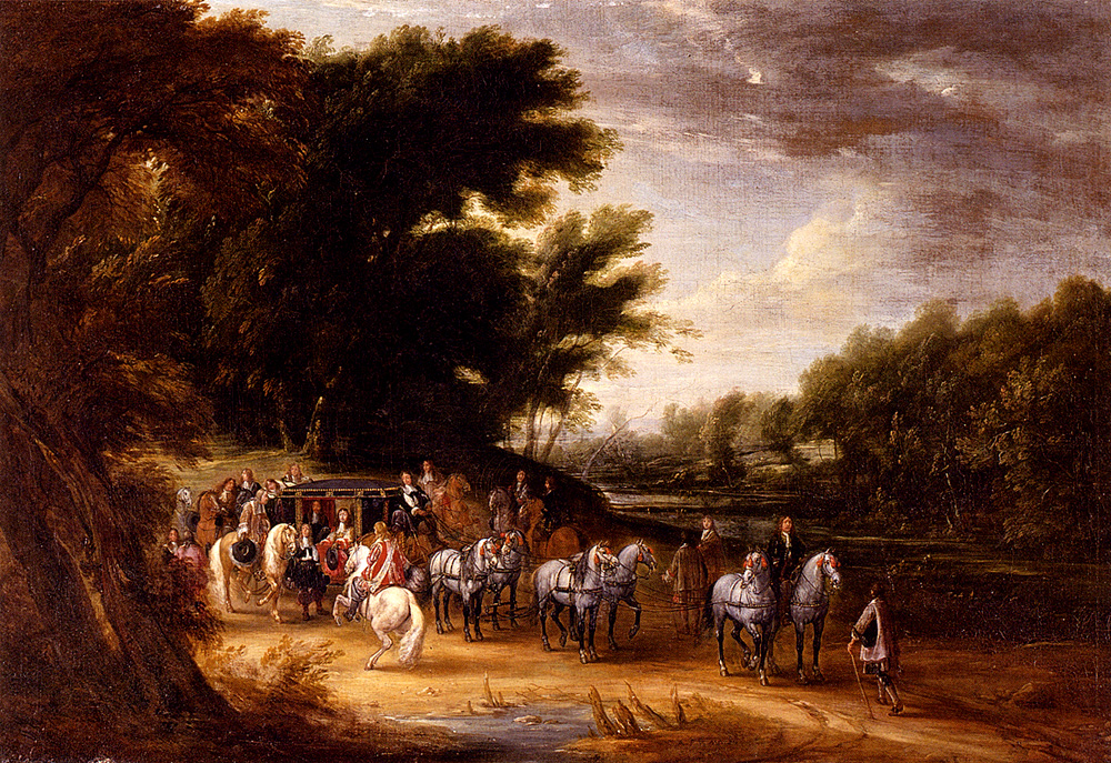 Louis XIV in a State Coach Accompanied by his Gentlemen